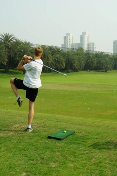 Golf-Yoga: Der Baum
