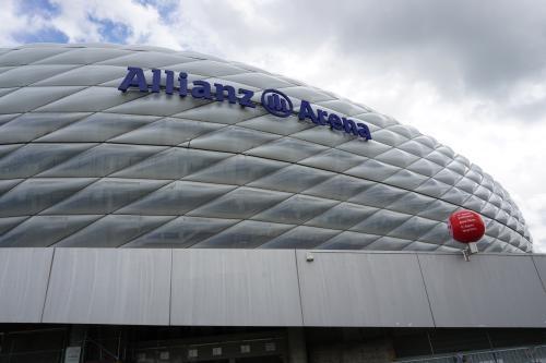 Außenfassade der Allianzarena