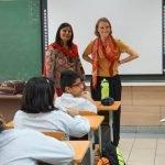 Deutsche Lehrerin mit Deutschlehrerin