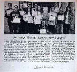 German MUN participants