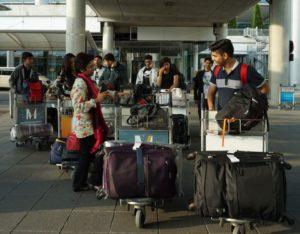 Ankunft der Austauschschüler