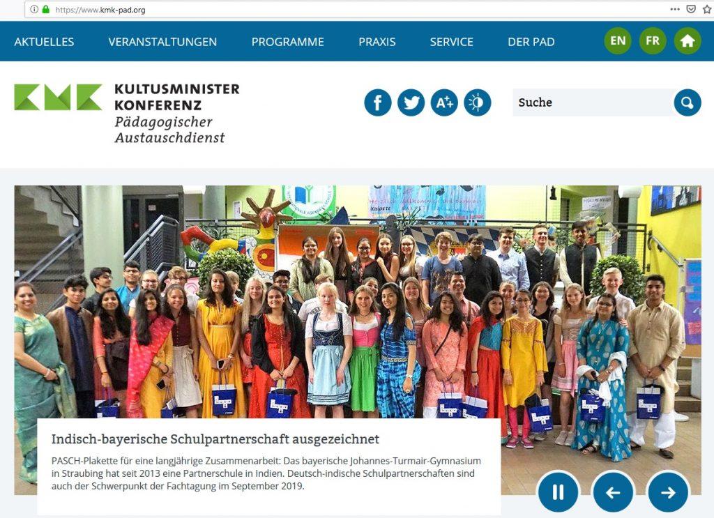 PAD KMK und JTG - Die Schüler des Austauschprojektes
